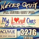 """Right after I was cleared to run after my third baby, I registered for NQ. Great race and awesome energy. """"Never quit"""" is my mantra."""