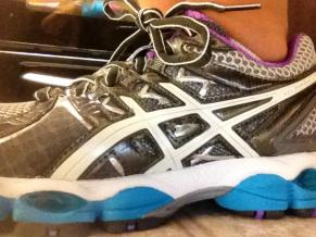 For my long runs, I wear my Asics Nimbus 14. You need that support and cushion. These shoes are about to be retired. They have about 120+ road miles.