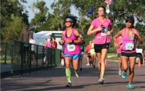 My sister and I at my first 5K ever...  Players 5K with Donna in 2012.