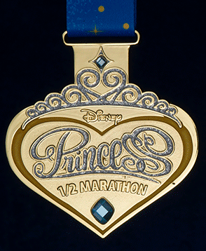 The 2014 Disney Princess Half-Marathon medal from runDisney.  It's perfect, in every way!