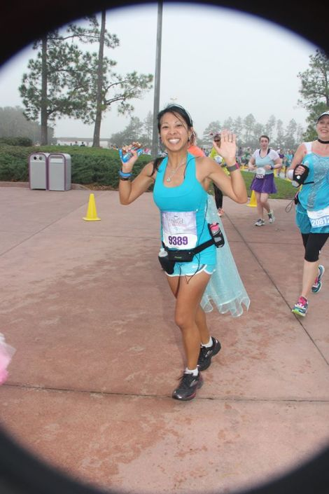 At the Disney Princess Half-Marathon, February 2014