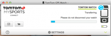 Example of the upload screen from TomTom Connect
