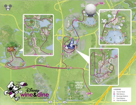 Last year's Wine and Dine route.  It will probably be the same this year.