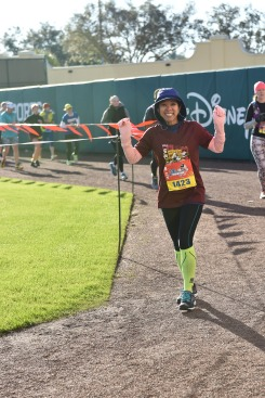2017 WDW Marathon - At ESPN just after I sprained my right ankle. I don't look injured, right? That was the plan.