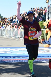 2017 WDW Marathon - Finished with a sprained right ankle. I was on pace to finish a 3:50 race, but got injured after mile-19. I feel good about this race because I EARNED it. I finished two minutes faster than my first marathon though!
